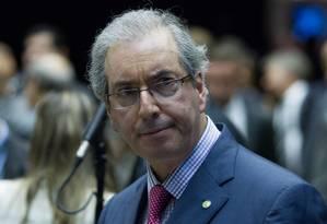 """""""Estamos reagindo à mudança de postura do PT"""", afirma Eduardo Cunha (PMDB-RJ), líder do partido na Câmara Foto: André Coelho/Agência O Globo (1-4-14)"""