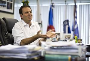 O prefeito Eduardo Paes Foto: Fábio Seixo / Agência O Globo (16/08/2013)