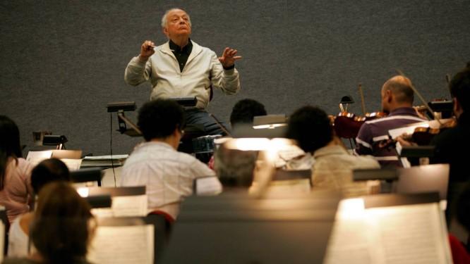 Lorin Maazel à frente da Orquestra Sinfônica Brasileira, em 2011 Foto: Marcos Ramos / Marcos Ramos