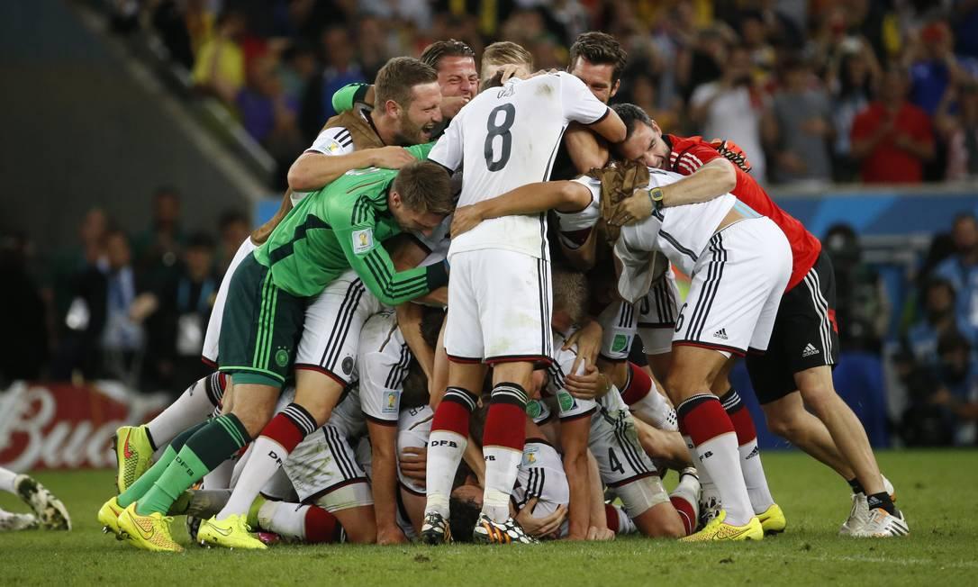 Jogadores da Alemanha comemoram a conquista da Copa do Mundo Foto: Ivo Gonzalez / Ivo Gonzalez