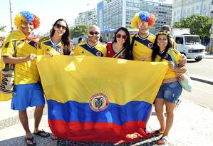 Colombianos ajudaram a engrossar massa de sul-americanos no país Foto: Luiz Roberto Lima / Agência O Globo (26/06/2014)