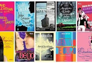 Exemplos de livros dedicados à literatura juvenil gay Foto: Arte