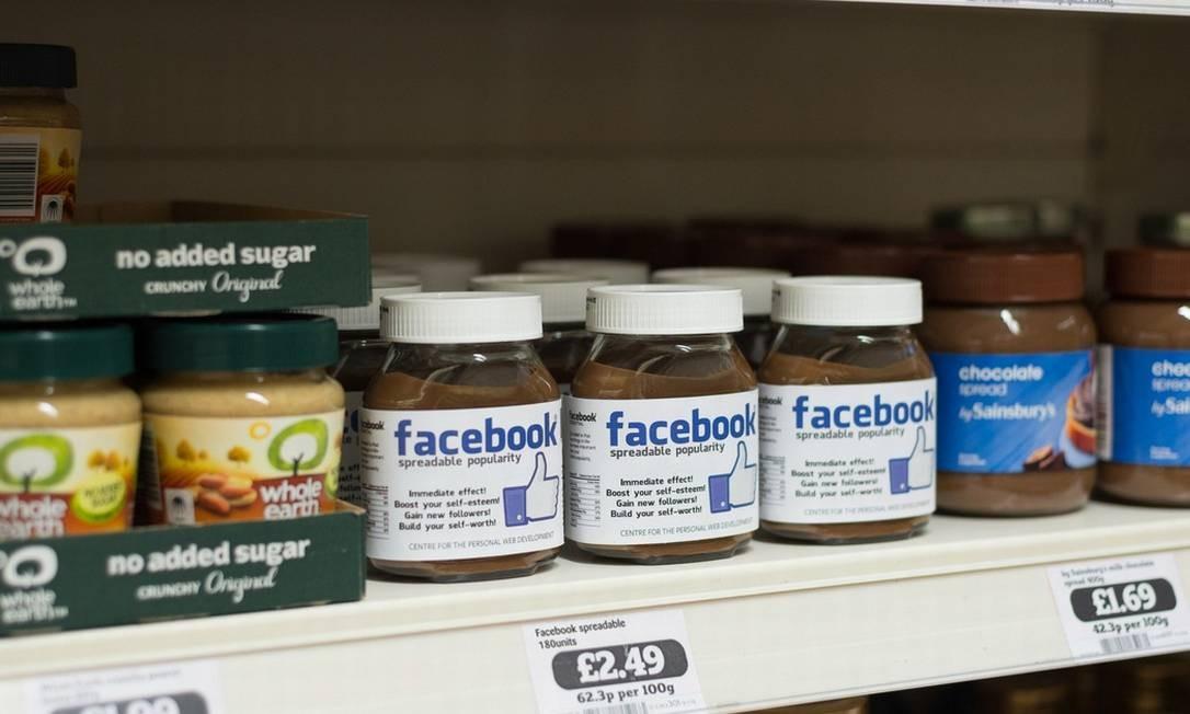 Já o Facebook ficaria entre cremes de avelã Divulgação / Valerioloi.com