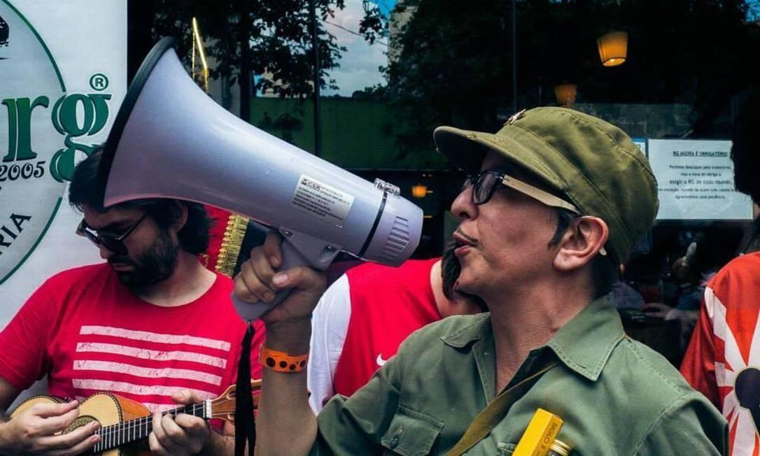 Vange Leonel no Bloco Soviético, durante o carnaval de rua de São Paulo deste ano Foto: Reprodução