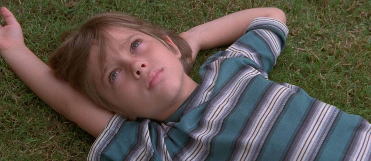 Ellar Coltrane em 'Boyhood': filme conta o crescimento de seu personagem, Mason, durante 12 anos Foto: Divulgação