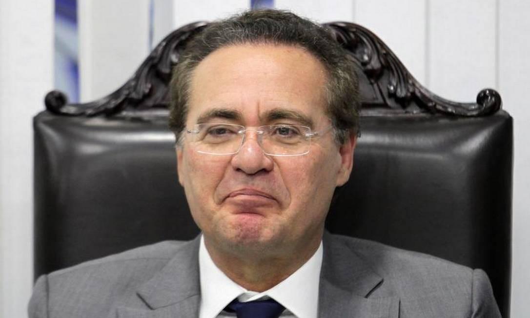 Presidente so Senado, Renan Calheiros Foto: Ailton de Freitas / O Globo