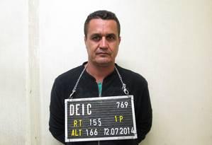 Amarildo Ribeiro da Silva, o Julio, responsável pelo setor financeiro da organização criminosa Foto: Divulgação / Secretaria de Segurança Pública