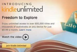 Página de apresentação do Kindle Unlimited Foto: Reprodução do site Gigaom