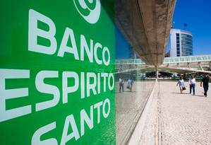 Agência do Banco Espirito Santo em Lisboa Foto: Mario Proenca / Bloomberg