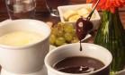 O petit fondue de Nutella com acompanhamentos, no Bar do Lado Foto: Divulgação