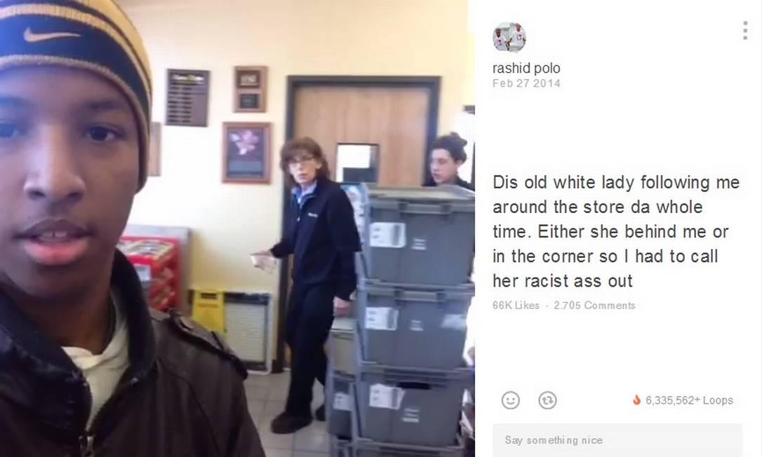 Racismo: jovem negro flagra vendedora de loja 'vigiando' sua conduta Foto: / Reprodução