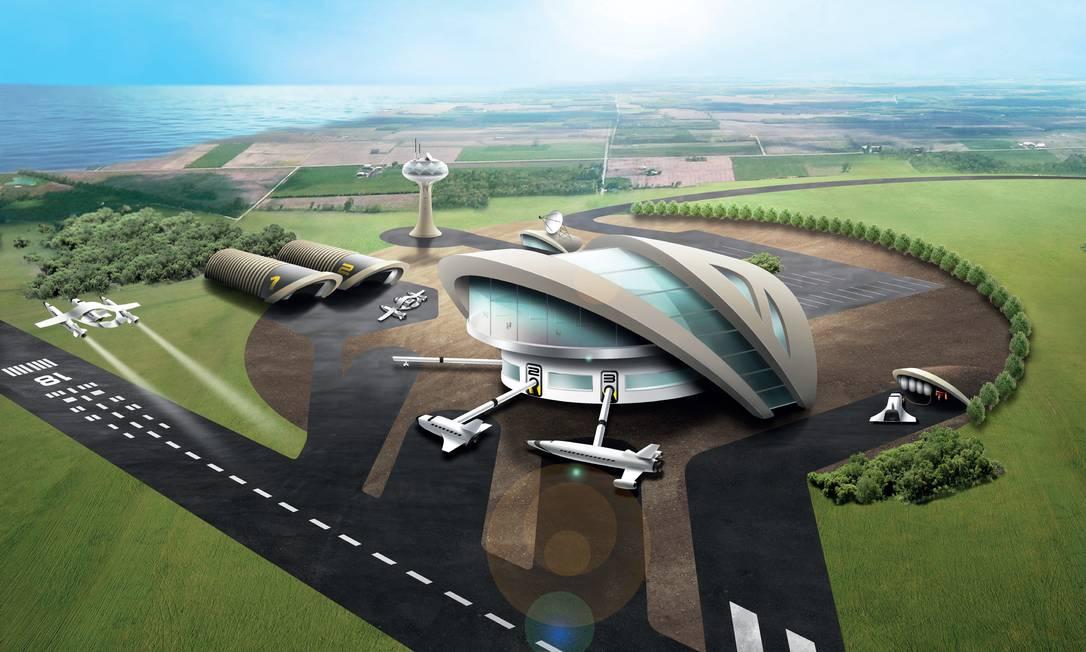 O projeto do espaçoporto da Agência Espacial Britânica, com conclusão prevista para 2018 Foto: UK Space Agency / Divulgação