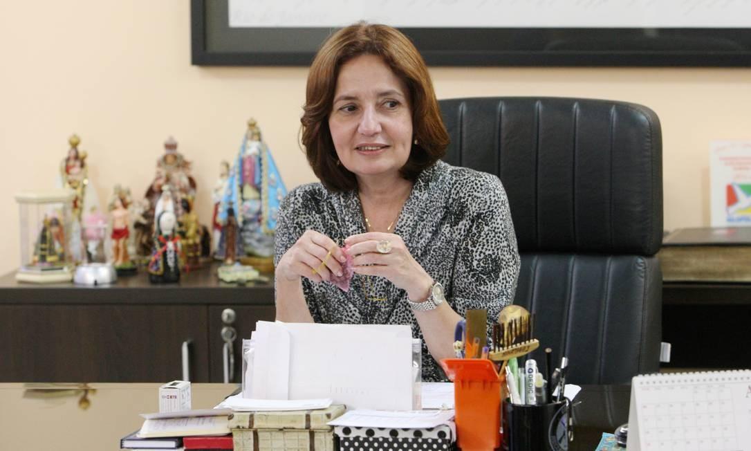 Martha Rocha, pré candidata à prefeitura do Rio pelo PDT Foto: Fabiano Rocha/11-07-2013 / Agência O Globo