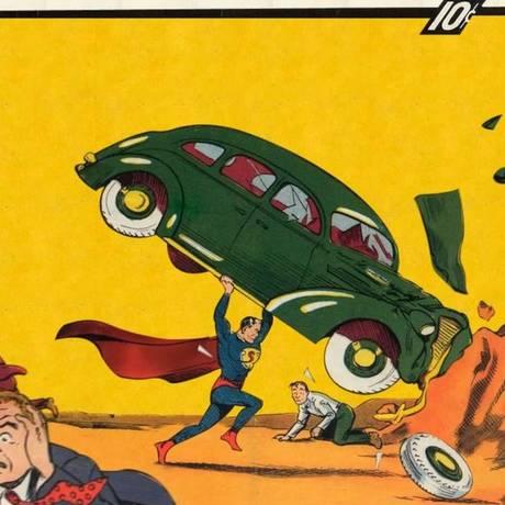 Primeira edição da revista 'Action Comics': a estreia do Super-Homem Foto: Reprodução