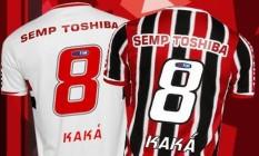 Kaká vai usar a camisa 8 que o consagrou, em sua volta ao São Paulo Foto: Divulgação
