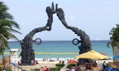 Monumento à civilização maia em Playa del Carmen Foto: Natalia Castro