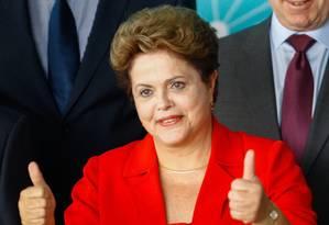 Dilma participa de 'resposta a Aezão' com prefeitos do Rio Foto: Andre Coelho / Agência O Globo