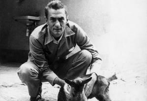 Raízes no Nordeste. O dramaturgo, romancista, poeta e ensaísta Ariano Suassuna: paixão pela criação de cabras Foto: Arquivo