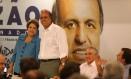 Dilma e Pezão juntos em jantar na Baixada Fluminense Foto: Rafael Moraes / Agência O Globo