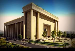 Gigantismo. Templo de Salomão, de 100 mil metros quadrados, custou R$ 680 milhões, e poderá receber 10 mil pessoas Foto: Reprodução