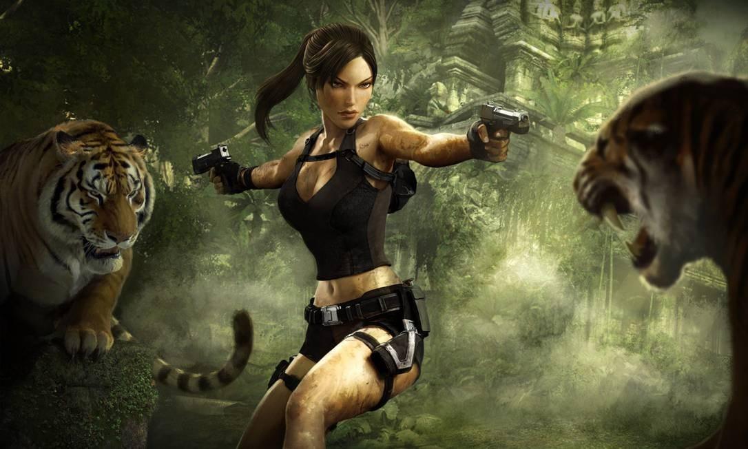 Pioneira. Lara Croft, de 'Tomb Raider', é uma das primeiras personagens femininas de expressão nos videogames. Forte e independente, ela protagoniza aventuras com duas pistolas na cintura, mas não deixa de lado o apelo sexual Foto: / Divulgação
