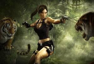Pioneira. Lara Croft, de 'Tomb Raider', é uma das primeiras personagens femininas de expressão nos videogames. Forte e independente, ela protagoniza aventuras com duas pistolas na cintura, mas não deixa de lado o apelo sexual Foto: Divulgação