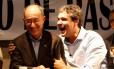 Rui Falcão e Lindbergh Farias no Sindicato dos Bancários no Rio