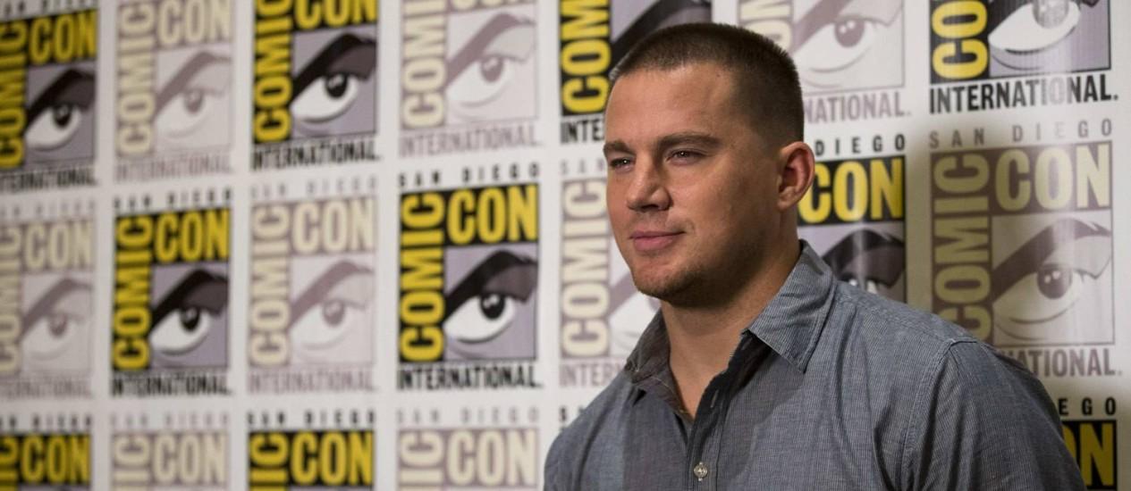 Channing Tatum posa para fotos no painel de 'Festa no céu' na Comic-Con Foto: MARIO ANZUONI / REUTERS