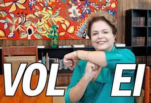 """Com uma montagem, """"Dilma Bolada"""" está de volta às redes sociais Foto: Facebook / Reprodução"""
