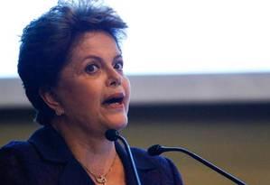A presidente e candidata à reeleição Dilma Rousseff Foto: André Coelho / Agência O Globo