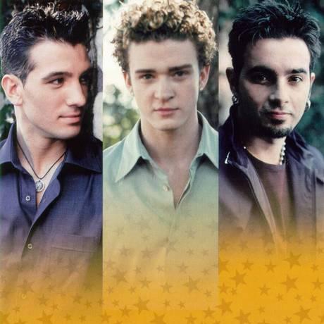 O 'NSync em 2000, no auge da fama: até o cabelo de Justin Timberlake era totalmnte diferente Foto: Divulgação