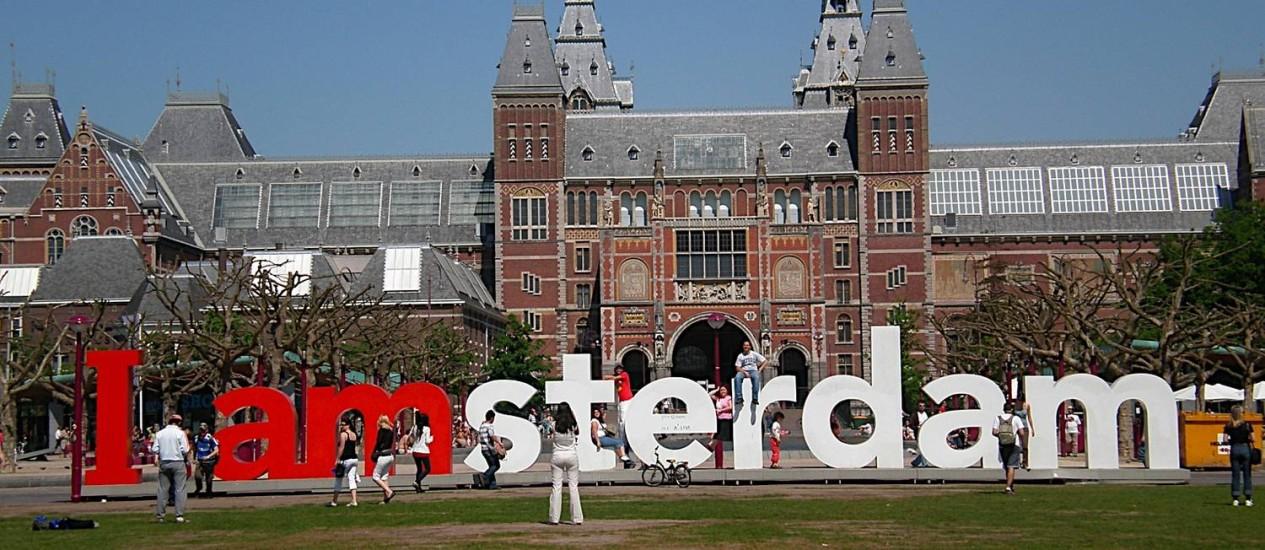 Ponto turístico de Amsterdã: Holanda quer atrair mais estudantes estrangeiros Foto: Maíra Amorim