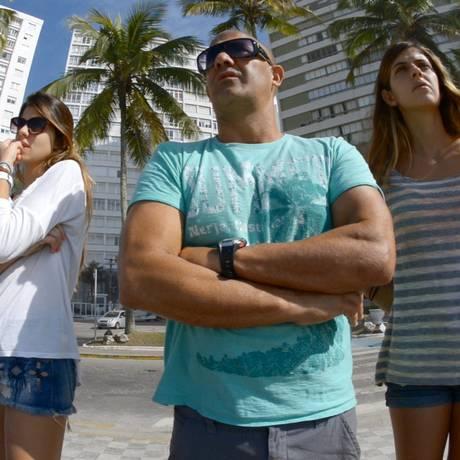 Família radical. Alana, Jorge e Nicole gostam de encarar desafios Foto: Fotos de divulgação