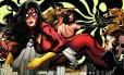 A personagem Jessica Drew, uma das versões da Mulher-Aranha, é uma das opções. Na imagem, a série 'Os Novos Vingadores'