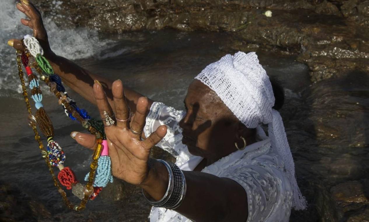 Ela visitou também Salvador, onde fez imagens da festa de Iemanjá Foto: Divulgação/ Isabela Senatore