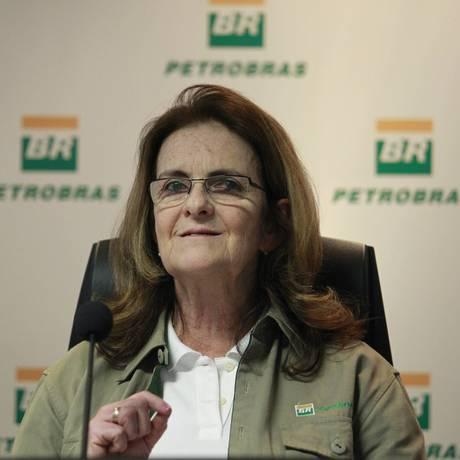 A presidente da Petrobras, Graça Foster Foto: Domingos Peixoto / O Globo