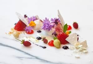 Sobremesa do londrino The Ledbury, que faz parte da lista The World's 50 Best, que indica os melhores restaurantes do mundo Foto: Divulgação