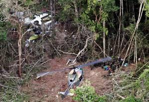 Avião da Gol caiu no norte do Mato Grosso, o que provocou a morte de 154 pessoas Foto: AFP