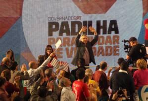 Convenção do PT. Padilha tem o maior gasto de campanha Foto: Marcos Alves / O Globo