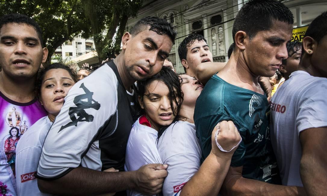 Fiéis se espremem no Círio de Nazaré, em Belém Foto: