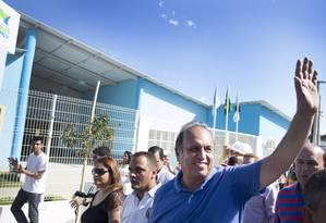 Luiz Fernando Pezão: governador arrecadou mais que adversários, mas registra prejuízo no início da campanha Foto: Antonio Scorza / Agência O Globo