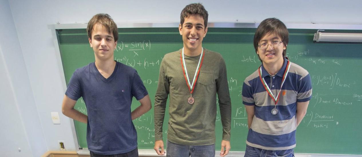 Daniel Carletti, Joao Carnevale e Rafael Miyazaki já ganharam medalhas em competições Foto: ANTONIO SCORZA / Antonio Scorza