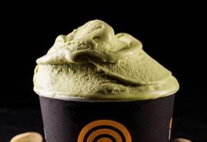 Na Vero Gelato Italiano, o sorvete de pistache de Bronte é um dos sabores da estação Foto: Tomás Rangel / Divulgação