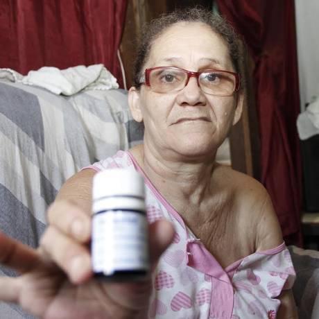 Rosa de Fátima Silva dos Santos, paciente com Aids, que mora em Belém Foto: Elivaldo Pamplona / O Globo