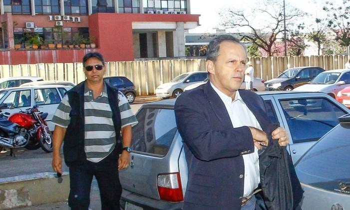 Lamas, chega à Vara de Execuções Penais e Medidas Alternativas para audiência pouco antes de ser transferido para o regime aberto Foto: ANDRE COELHO / O Globo