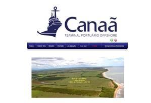 Projeto. No site da empresa, uma foto da área onde está sendo planejada a construção do porto Foto: Reprodução de internet