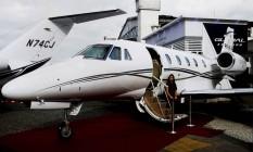 Imagem do avião que Eduardo Campos estaria usando quando aconteceu o acidente Foto: Reprodução da internet