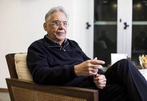 FH: 'Conheci Eduardo, fui amigo do avô dele' Foto: Leonardo Soares / Agência O Globo