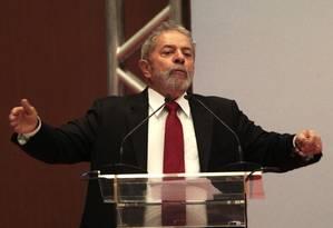 Ex-presidente Luiz Inácio Lula da Silva Foto: Jorge William / O Globo