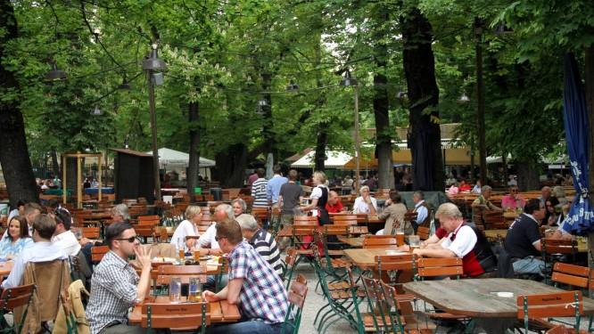 O 'biergärten' Augustinier, um dos mais populares de Munique, na Alemanha Foto: Eduardo Vessoni